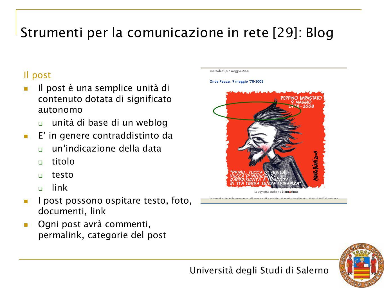 Strumenti per la comunicazione in rete [29]: Blog